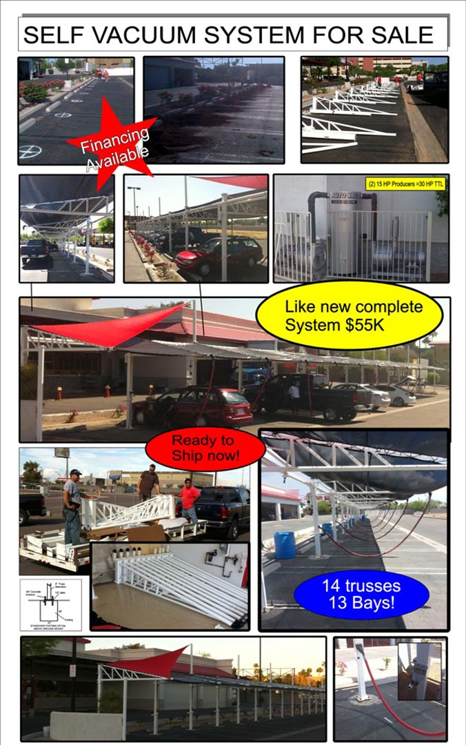 Icwv Fmq Complete Vacuum System W 14 Trusses Conopy Car Wash